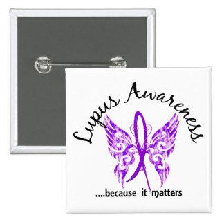 Lupus grunge du papillon 6,1 de tatouage badges