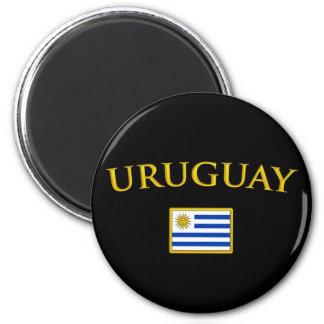 L'Uruguay d'or Magnet Rond 8 Cm
