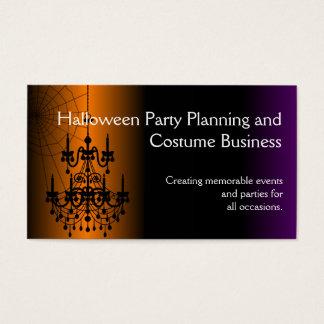Lustre orange/noir de Halloween Cartes De Visite