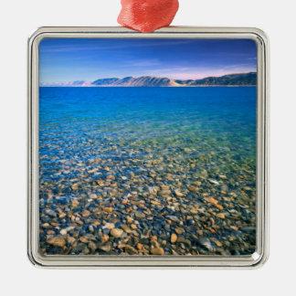 L'UTAH. LES Etats-Unis. L'eau claire du lac bear Ornement Carré Argenté