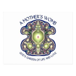 L'utérus d'une mère : Le jardin de Dieu de la vie  Cartes Postales