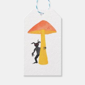 Lutin de champignon étiquettes-cadeau