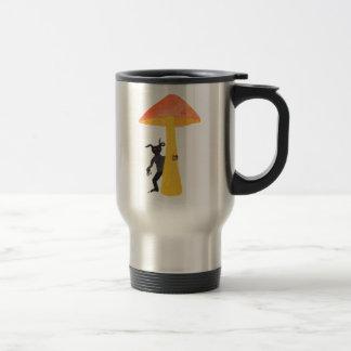 Lutin de champignon mug de voyage