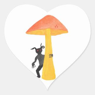 Lutin de champignon sticker cœur