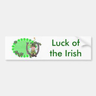 Lutin irlandais adhésif pour voiture