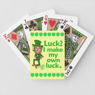 Lutin irlandais chanceux fâché drôle jeu de cartes