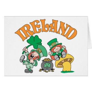 Lutins de l'Irlande Carte De Vœux