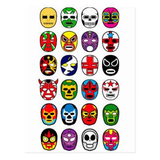 Lutte mexicaine de lutteur de masque de Lucha Carte Postale