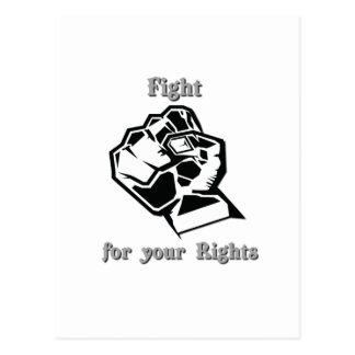 Lutter pour vos droits carte postale