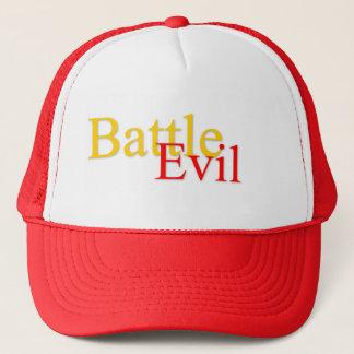 Luttez casquette rouge/blanc mauvais de logo de