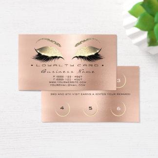 Lux de rose de peau de mèches de salon de beauté cartes de visite