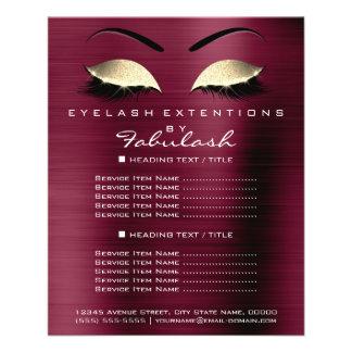 Lux d'insecte de scintillement d'or de salon de prospectus 11,4 cm x 14,2 cm