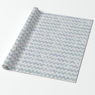 Luxe blanc de rayure de Chevron de zigzag de Papiers Cadeaux Noël