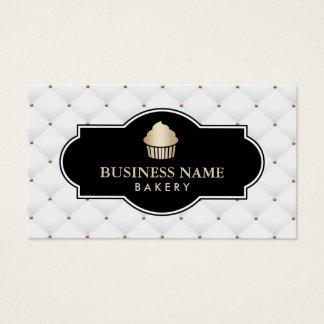 Luxe de boulangerie de petit gâteau d'or piqué cartes de visite