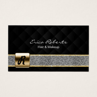 Luxe de ceinture d'argent de monogramme d'or de cartes de visite