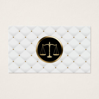 Luxe de logo d'échelle d'or de mandataire d'avocat cartes de visite