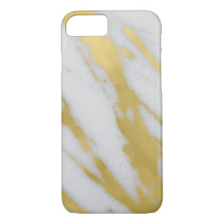 Luxe de marbre d'or coque iPhone 7