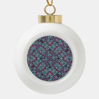 Luxe stylisé de texture fleuri boule en céramique