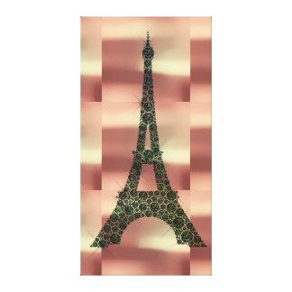 Luxe tropical de la géométrie de Paris de Français Toile