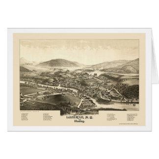 Luzerne et Hadley, carte panoramique de NY - 1887