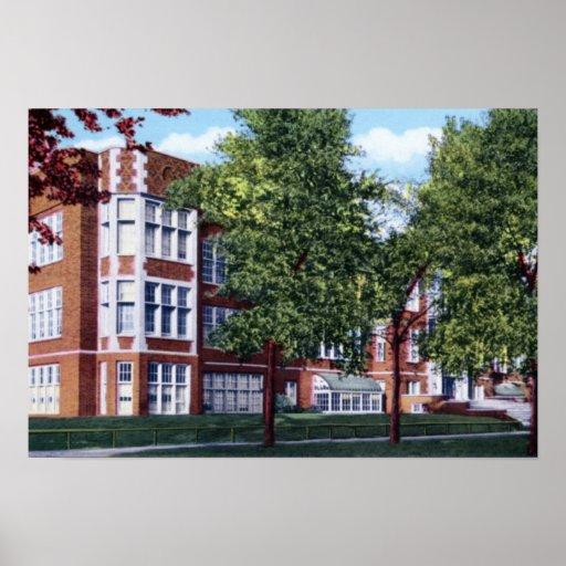 Lycée de Gary Indiana Froebel Posters