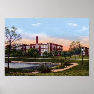 Lycée de Gary Indiana Horace Mann Posters