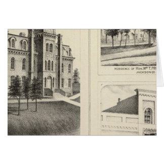 Lycée des syndicats, résidence et banque du comté carte de vœux