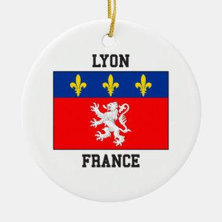 Lyon France Ornement Rond En Céramique