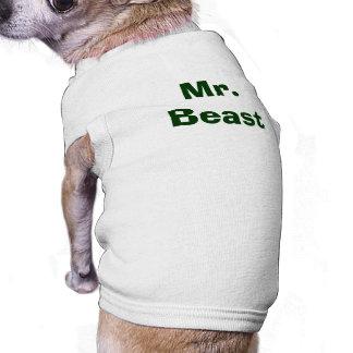 M. Beast Funny Pup T-shirt Pour Chien