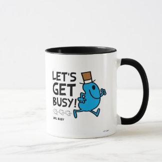 M. Busy | nous a laissés obtenir le texte noir Mug