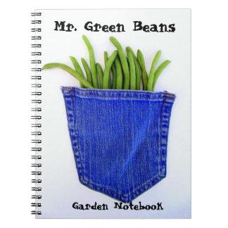 M. carnet de jardin d'haricots verts