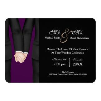M. chic et M. Tuxedo Couple Wedding Celebration Carton D'invitation 12,7 Cm X 17,78 Cm