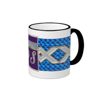 M.-D-s bleu Black tasse de café de sonnerie de 11