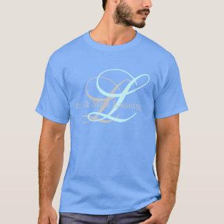 M. de monogramme et Mme Shirt pour les hommes T-shirt