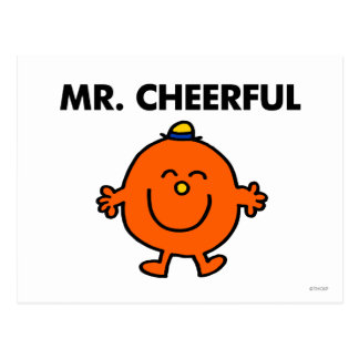 M. de sourire Cheerful Carte Postale