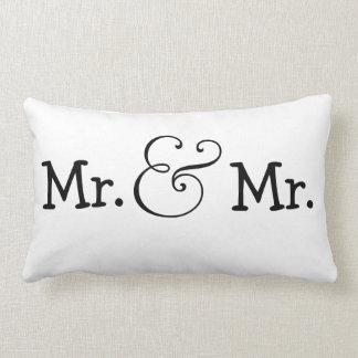 M. et M. deux cadeau de mariage de mariés Coussins Carrés