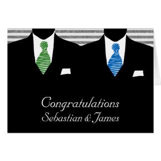 M. et M., deux mariés épousant des félicitations Carte De Vœux