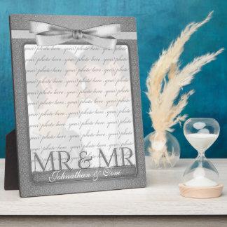 M. et M. Gay Wedding Photo Frame en argent Impression Sur Plaque