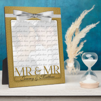 M. et M. Gay Wedding Photo Frame en or Photos Sur Plaques