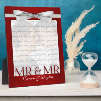 M. et M. Gay Wedding Photo Frame en rouge Plaque D'affichage
