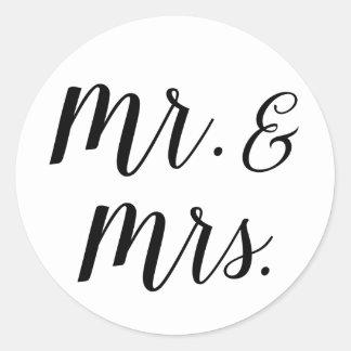 M. et Mme autocollants