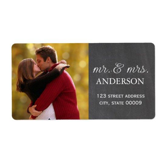 M. et Mme Custom Photo Labels Étiquette D'expédition