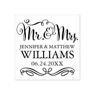 M. et Mme du monogramme | de mariage