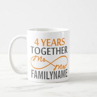 M. et Mme faits sur commande 4ème anniversaire Mug
