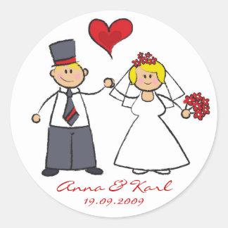 M. et Mme mignons Wedding Sticker de couples de