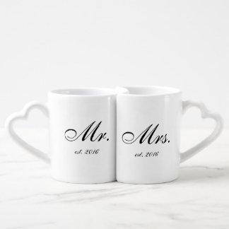 """""""M. et Mme """"ont personnalisé l'ensemble de tasse"""