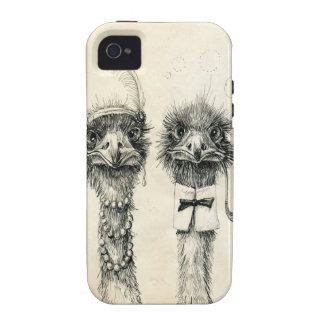 M. et Mme Ostrich Coques iPhone 4