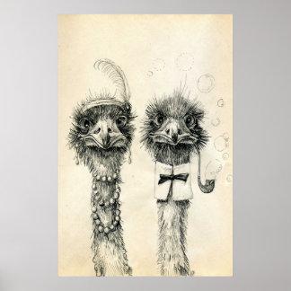 M. et Mme Ostrich Posters