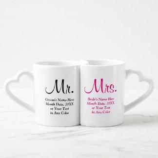 M. et Mme personnalisés cadeaux de mariage Tasses Duo
