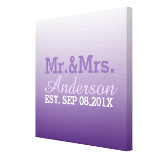 M. et Mme pourpres de mariage d'ombre lilas d'été Toile